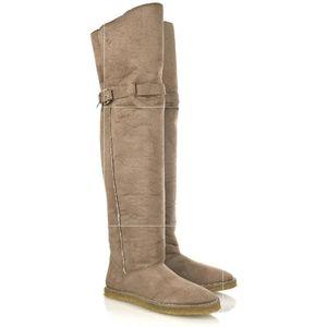 Stella McCartney Shearling lined thigh hi boots 38